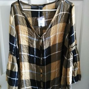 George Button Down Blouse